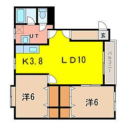ラン・フォルセ[2階]の間取り
