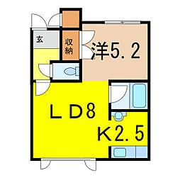 エクセレントハウス[1階]の間取り