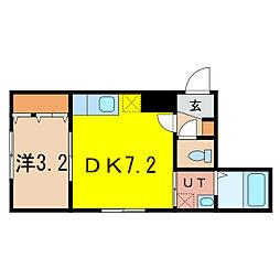 仮称:2条通10丁目MS[3階]の間取り