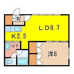 トワハウス南I[2階]の間取り