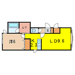 旭川市東光2条4丁目1-20[2階]の間取り