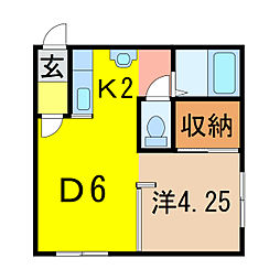 コットンハウス7[1階]の間取り