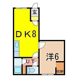 Casa vesina[1階]の間取り
