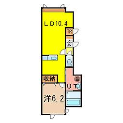 ラ・トルチェ[1階]の間取り