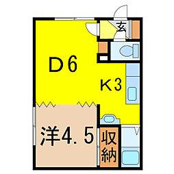 コーポ幸[2階]の間取り