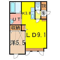 東6-10新築MS A棟[1階]の間取り