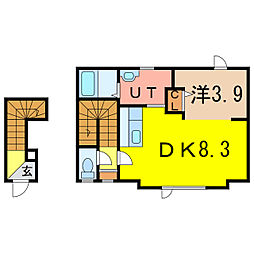 2−1MS A棟 新築[2階]の間取り