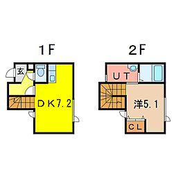 2−1MS B棟 新築[1階]の間取り