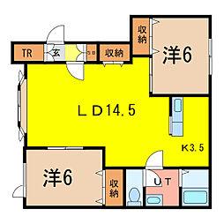 プリンスマンションG[1階]の間取り