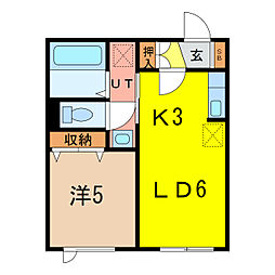 マリオット6条[2階]の間取り