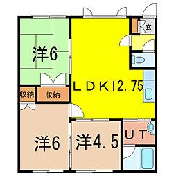 シルキー8.2[1階]の間取り