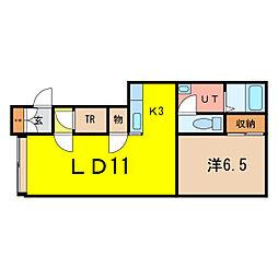 ラ・メールA棟[1階]の間取り