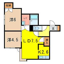 メゾン松田VI[1階]の間取り