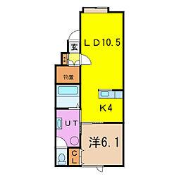 アルト16[1階]の間取り