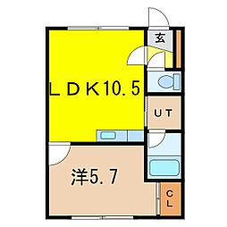 マンションマーガレット[2階]の間取り