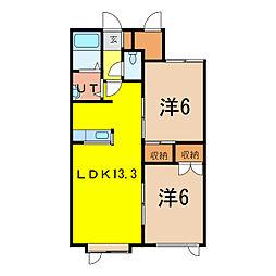 エテルノI[2階]の間取り