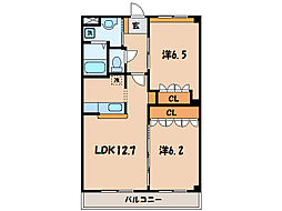名鉄西尾線 西尾駅 バス10分 東脇亭車下車 徒歩3分の賃貸アパート 2階2LDKの間取り