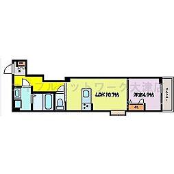 JR東海道・山陽本線 膳所駅 徒歩19分の賃貸アパート 2階1LDKの間取り