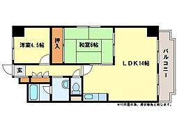 アーバンハイツNAKAI[1階]の間取り