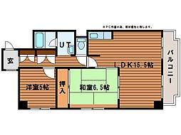 アーバンハイツNAKAI[11階]の間取り