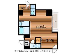 E・ビルド[8階]の間取り