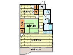第78松井ビル[5階]の間取り