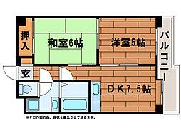 サニーヒルズ3番館[1階]の間取り