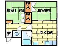 杉コーポ[2階]の間取り