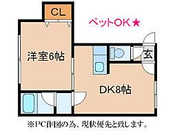 シャネル澄川[1階]の間取り