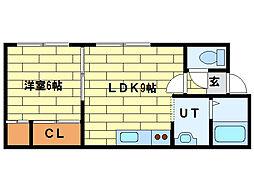 ホワイトコートカヤ12[3階]の間取り