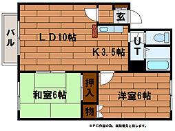 クレストール高柳[2階]の間取り