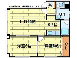 ソシアルトミイNo.60[2階]の間取り