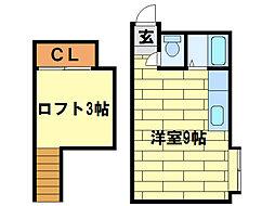 澄川クラブハウス[1階]の間取り