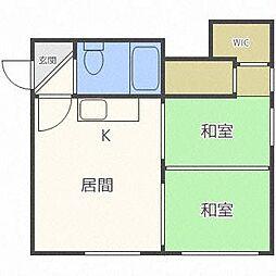 コーポ45[1階]の間取り