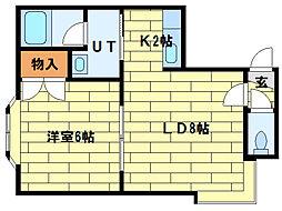 フォーサイト南34[3階]の間取り