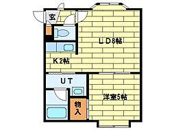 フォーサイト南34[2階]の間取り
