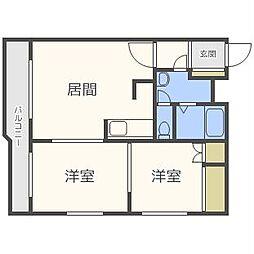 パストラルハイム(澄川3-5)[3階]の間取り