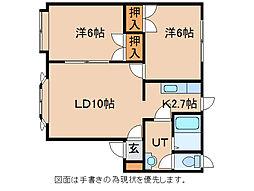エクセレント藤野II[2階]の間取り