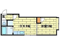 ロワジール澄川[2階]の間取り
