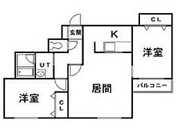ROSSO[3階]の間取り