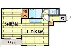 ピースフル澄川[2階]の間取り
