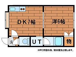 ルミエール澄川4・3[1階]の間取り