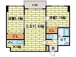スクエアマンション平岸[3階]の間取り