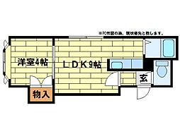 フォレスト澄川[3階]の間取り