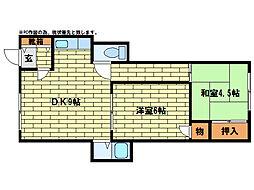 常盤マンション[1階]の間取り