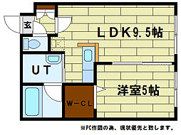 ピュアライフ5-3[2階]の間取り