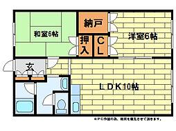 澄川エレガンスハイツ[4階]の間取り