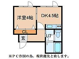 K・I47[201号室]の間取り