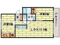 パレスニーノ35[3階]の間取り
