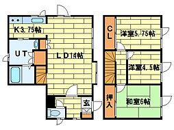 [一戸建] 北海道札幌市南区中ノ沢5丁目 の賃貸【/】の間取り